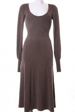 Zara Strickkleid braun Casual-Look