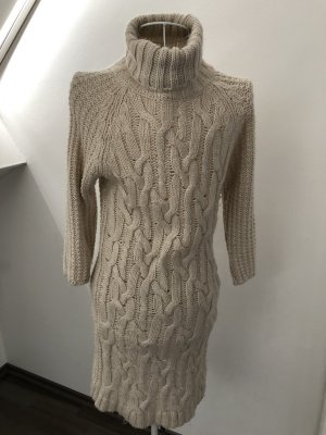 Zara Knit Sweater Dress natural white-cream