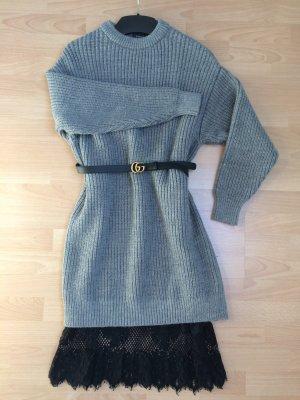 ZARA Strickkleid Chunky knit mit Spitze / S 36