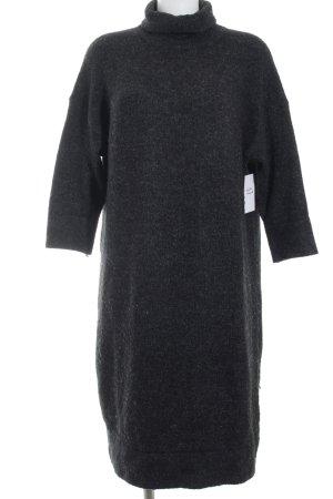 Zara Robe en maille tricotées gris foncé moucheté style décontracté