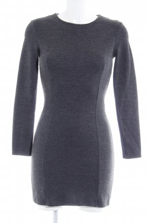 Zara Robe en maille tricotées gris foncé Motif de tissage style décontracté