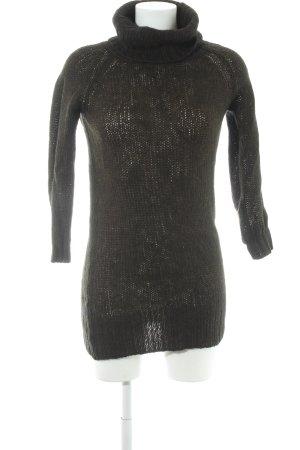 Zara Strickkleid dunkelgrün Casual-Look