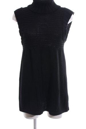 Zara Strickkleid schwarz Casual-Look