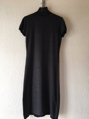 Zara Strickkleid grau/schwarz gestreift casual