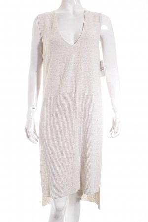 Zara Strickkleid hellbeige meliert Street-Fashion-Look