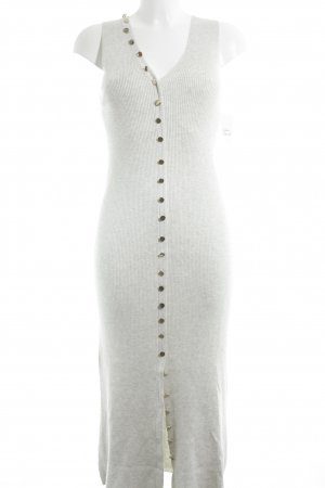Zara Knitted Dress light grey casual look
