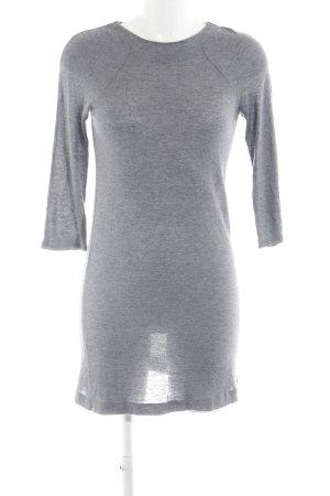 Zara Abito di maglia grigio chiaro puntinato stile casual