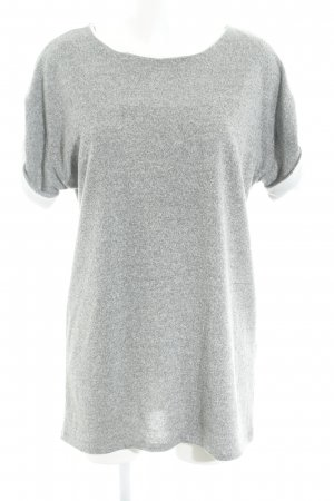 Zara Abito di maglia grigio chiaro-bianco puntinato stile casual