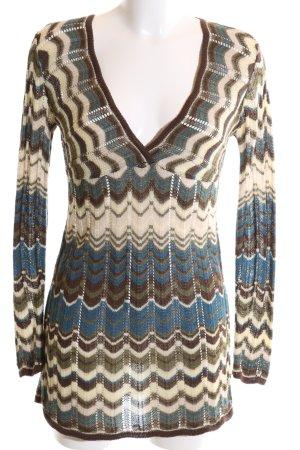 Zara Robe en maille tricotées motif tricoté lâche style des années 70