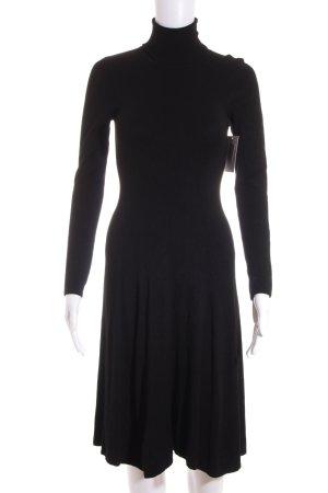 Zara Vestido tejido negro look casual