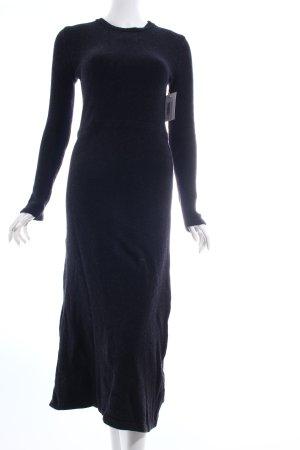 Zara Strickkleid schwarz meliert schlichter Stil