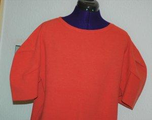 Zara Robe en laine rouge-orange foncé tissu mixte