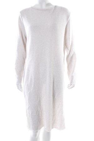 Zara Strickkleid weiß-hellrosa schlichter Stil