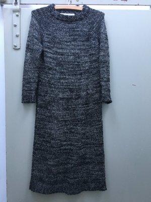 ZARA Strickkleid Wollkleid Kleid S schwarz weiß