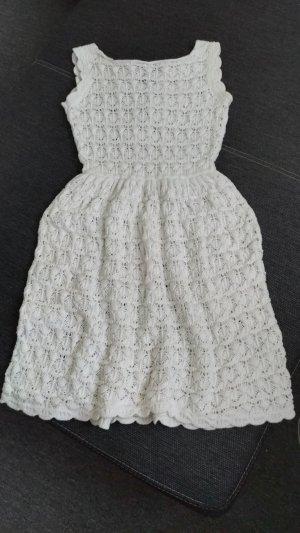 ZARAKNIT Knitted Dress natural white-white cotton