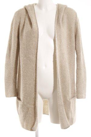 Zara Gebreide jas beige-licht beige casual uitstraling