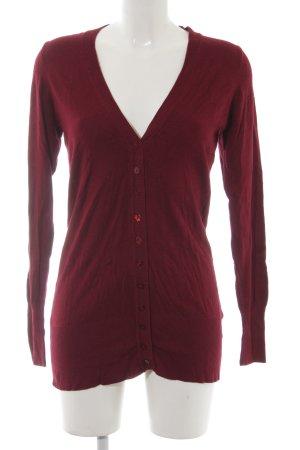 Zara Manteau en tricot bordeau style décontracté
