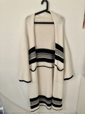 Zara Knit Knitted Coat multicolored