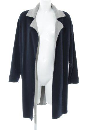 Zara Manteau en tricot gris clair-noir style décontracté
