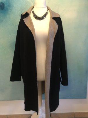 Zara Knit Gebreide jas zwart-beige