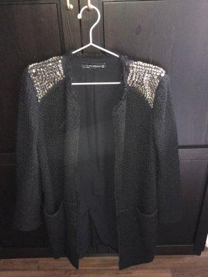 Zara Manteau en laine noir