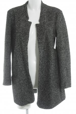 Zara Knitted Coat black-white color gradient casual look