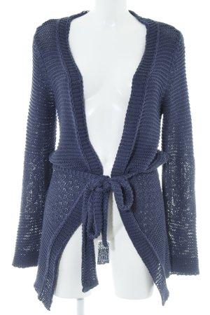Zara Knitted Coat steel blue casual look