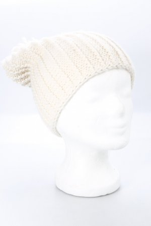 Zara Knitted Hat natural white casual look