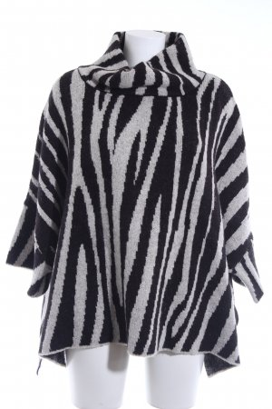 Zara Strickponcho Animalmuster Animal-Look
