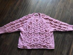 Zara Grof gebreide trui roze