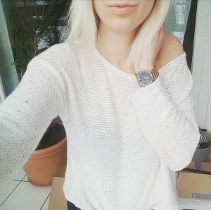 Zara Strickpullover creme beige meliert