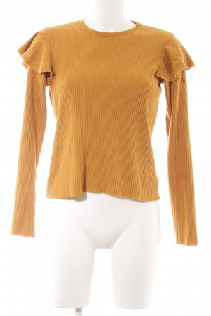 Zara Strickpullover goldorange Casual-Look