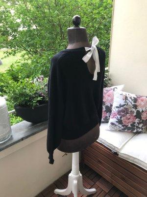 Zara Jersey de punto negro-blanco puro Viscosa