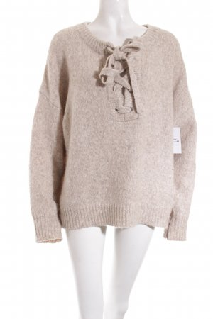 Zara Strickpullover hellbeige Street-Fashion-Look