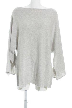 Zara Pull tricoté gris clair style décontracté