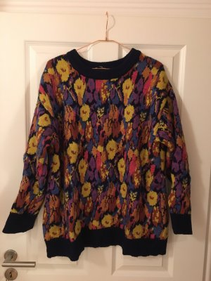 Zara Strickpullover in Jacquard-Optik floral