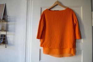 Zara, Strickpullover Lagenlook Orange