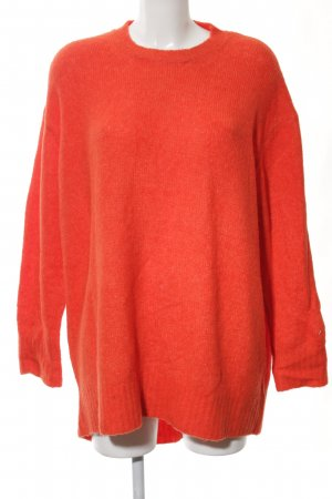 Zara Strickpullover neonorange Casual-Look