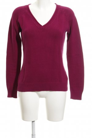Zara Strickpullover purpur Casual-Look