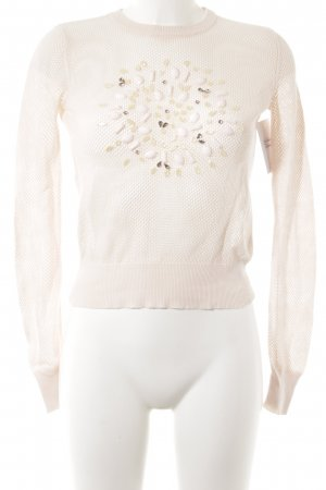 Zara Knitted Sweater pink loosely knitted pattern casual look
