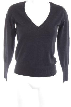 Zara Maglione lavorato a maglia nero stile casual
