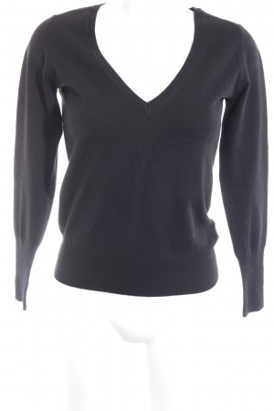 Zara Knitted Sweater black casual look