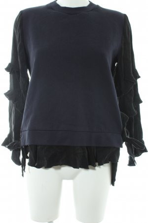 Zara Strickpullover schwarz-dunkelblau Casual-Look