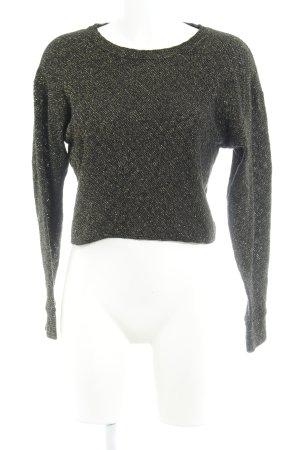 Zara Maglione lavorato a maglia nero-oro Motivo a maglia leggera stile festa