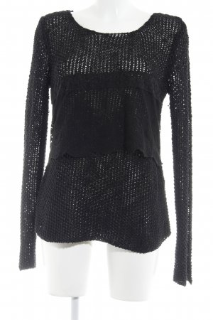 Zara Knitted Sweater black simple style