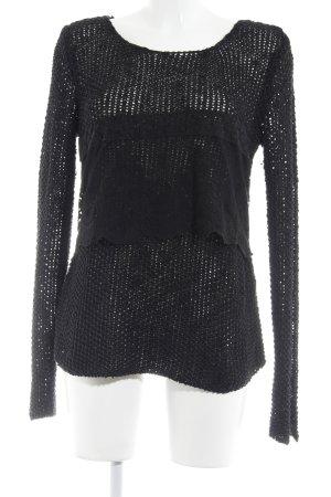 Zara Pull tricoté noir style simple