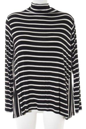 Zara Strickpullover schwarz-weiß Ringelmuster Casual-Look