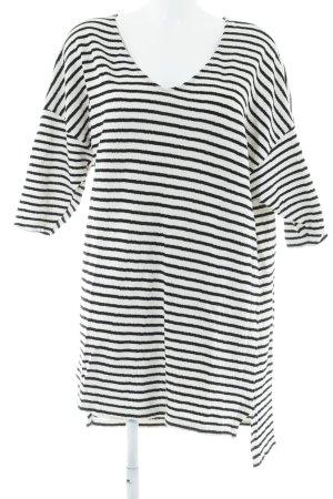 Zara Strickpullover schwarz-weiß Streifenmuster Casual-Look
