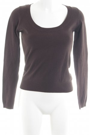 Zara Strickpullover taupe Casual-Look