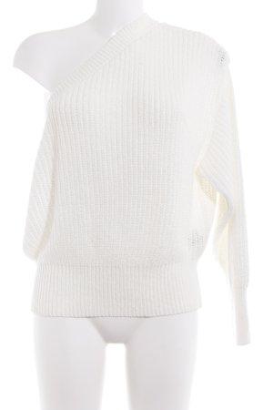 Zara Pull tricoté blanc style décontracté